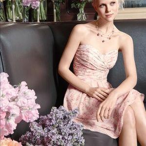 Davids Bridal Size 14 Short Crinkle Chiffon Dress